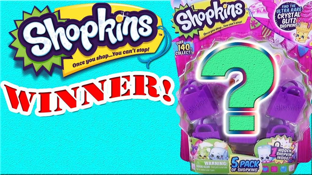 WINNER Shopkins Season 2 5 Pack Opening With Surprise Toy Bind Bags