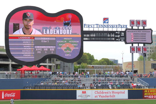 Nashville Sounds Guitar Scoreboard