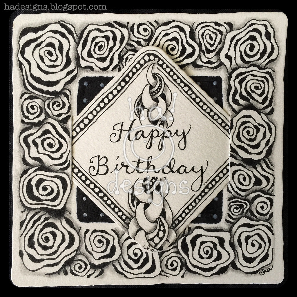 zentangle inspired art happy birthday i created this ti flickr