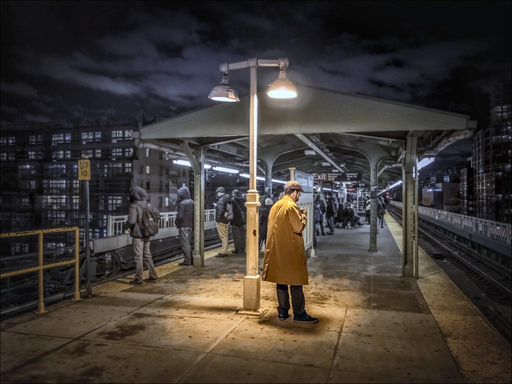Queensboro Plaza Station, 7, Q or N Train, Upper Level Platform 2014.12.