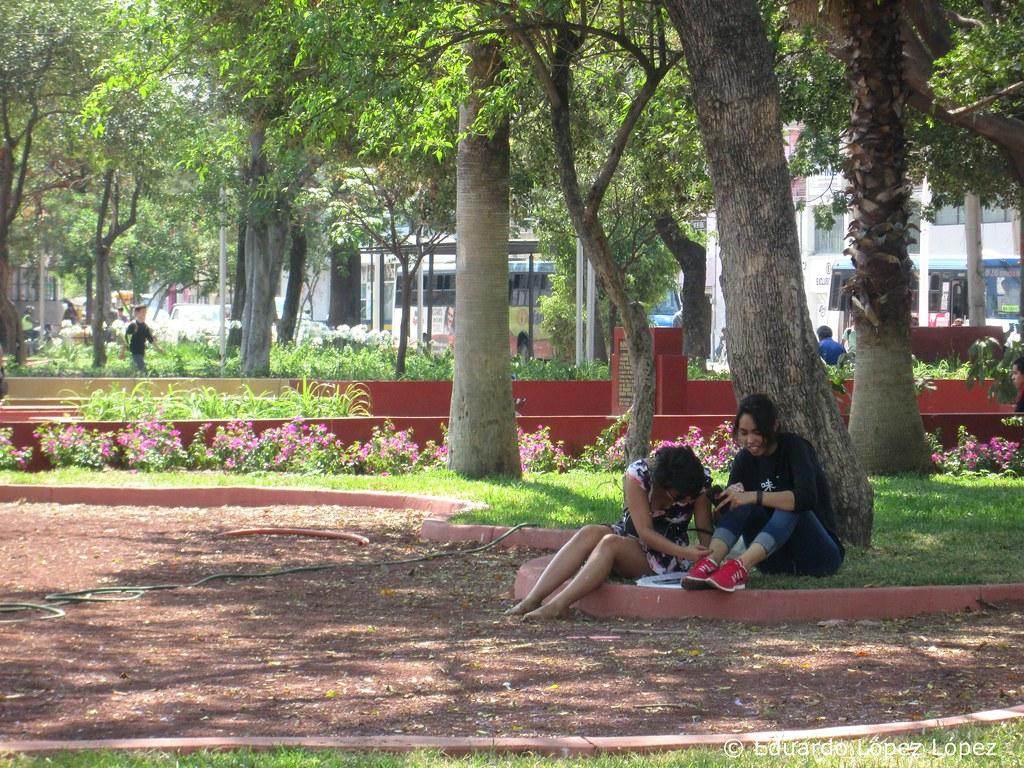 Parque rojo y alrededores