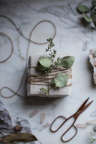 diy muslin gift wrapping | by Beth Kirby | {local milk}