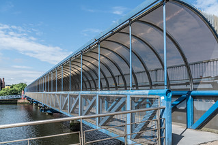 LAGAN RAILWAY PLUS PEDESTRIAN BRIDGE IN BELFAST [TWO FOR THE PRICE OF ONE]--121121 | by infomatique