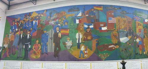 Mural of Colombian police history