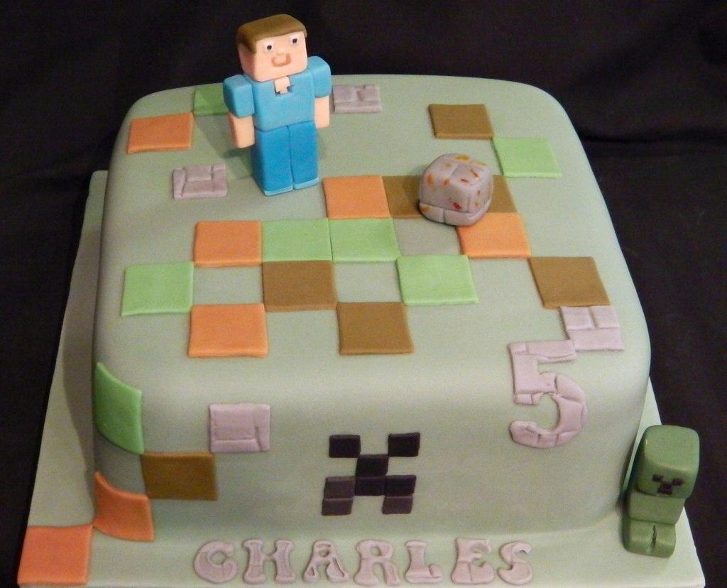 Minecraft 5th Birthday Celebration Cake Mandys Homemade Cakes