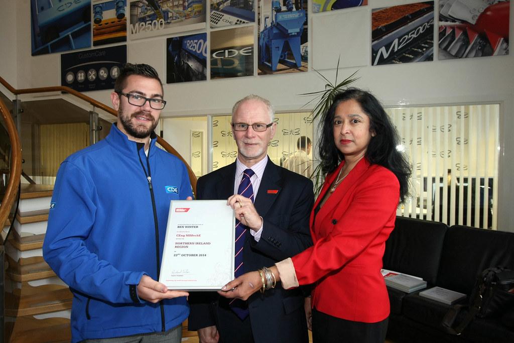 Ben Winter Certificate Presentation Visit To Cde In Northe Flickr