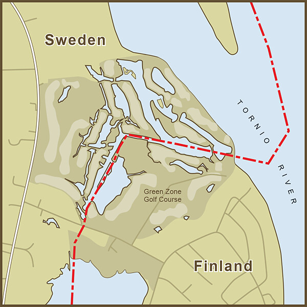 A Map of the Strange Border between Sweden and Finland tha Flickr