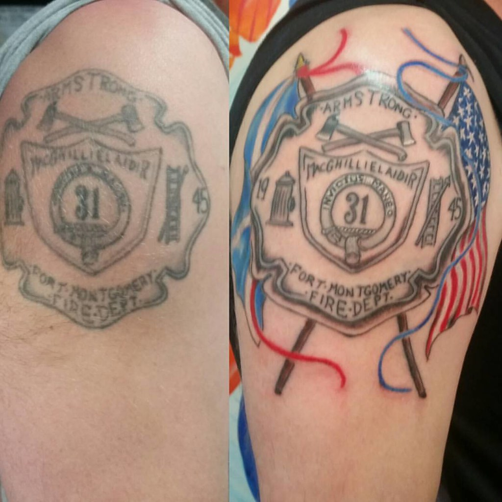 Seth Got His Tattoo Upgraded Thinblueline Firefighter Flickr
