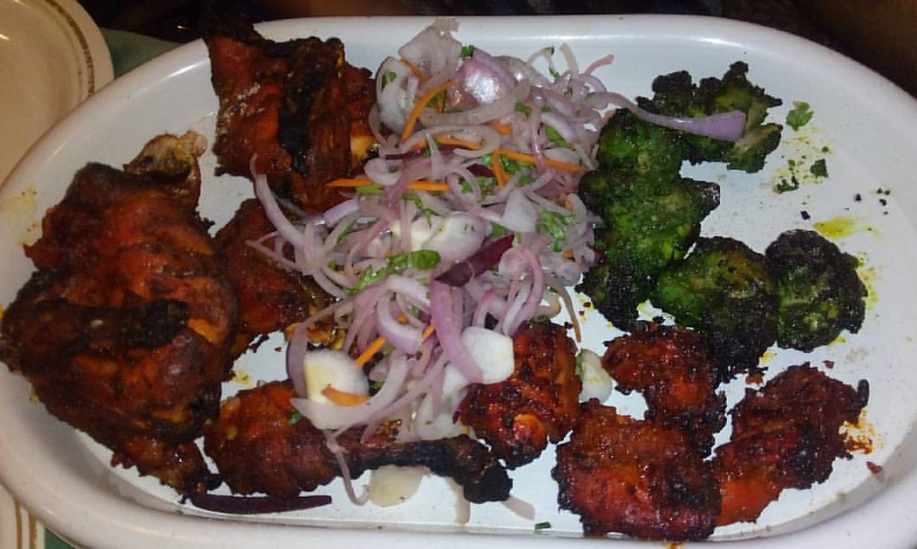 Variety Of Chicken Dishes In One Plate At Persian Darbar Flickr