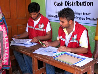 18 German-supported forecast-based financing in Bogra, Bangladesh, cash distribution pilots during 2016 monsoon flood | by Climate Centre