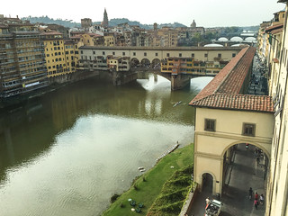 view out over Ponte Vecchio | by elizajanecurtis