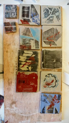 Printing on clay with Anne Gibbs