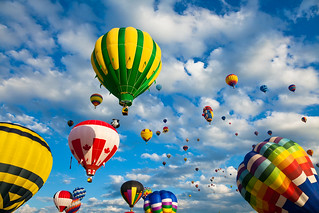 Vibrant Hot Air Balloons | by freestock.ca ♡ dare to share beauty