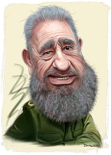 Fidel Castro - Caricature | by DonkeyHotey