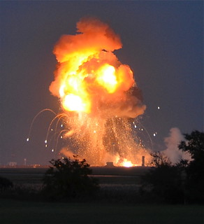 Big Bada Boom. Antares Explosion Sequence from our team in the field | by jurvetson