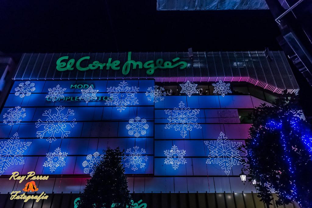 El Corte Ingles En La Calle Uria Engalanada Con La Ilumina Flickr - Iluminacion-el-corte-ingles