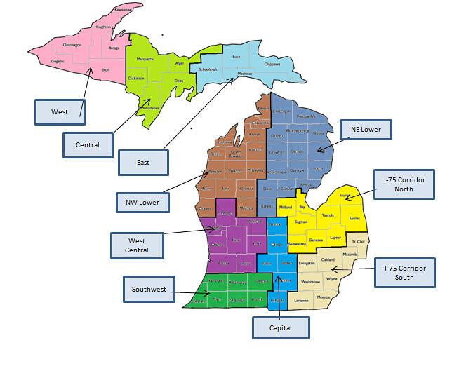 2016 County Population Estimates Detroit Flint Lansing 2015