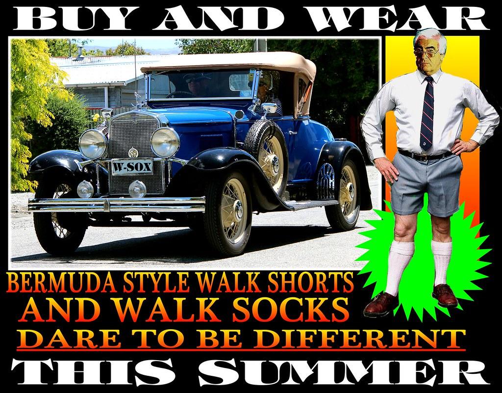 Bermuda Walk socks With Old Cars 11 | Tweed Jacket + Cavalry Twill ...
