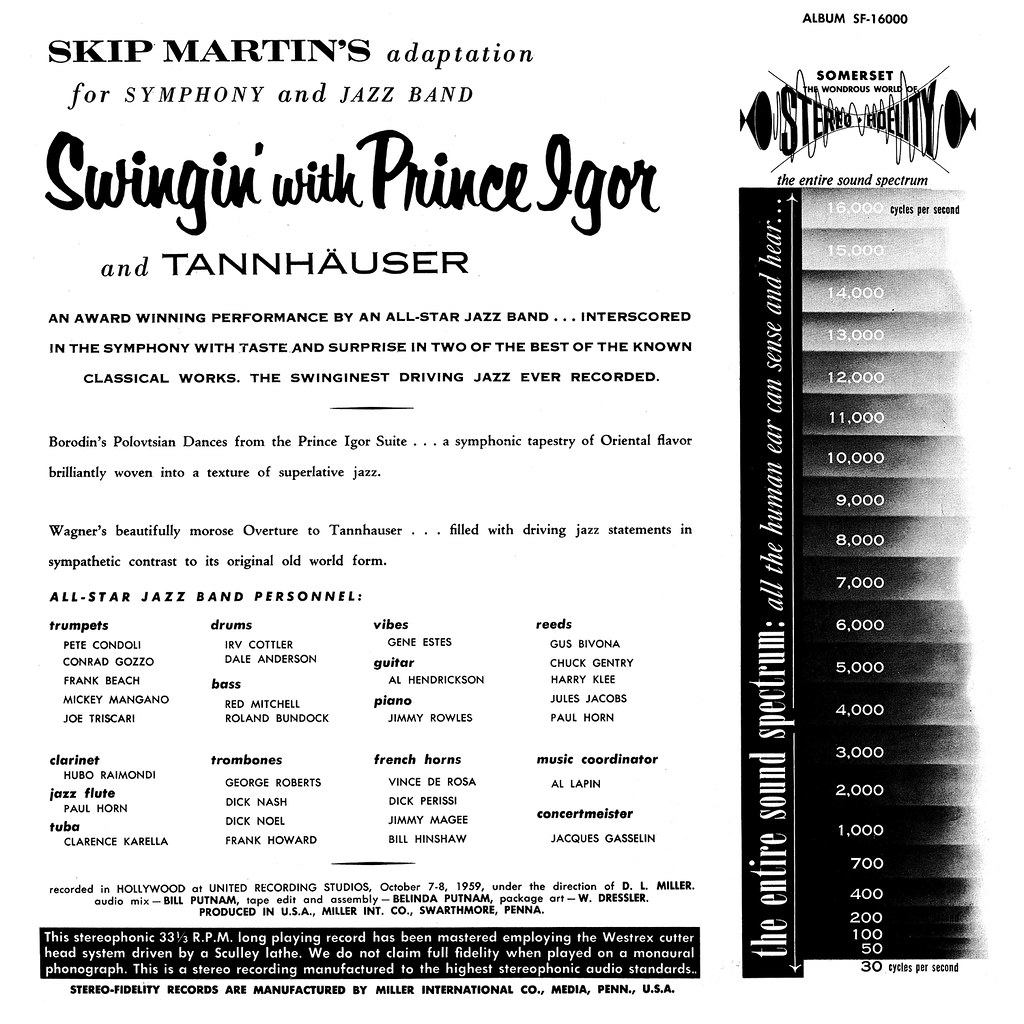 Skip Martin ‎– Swingin' With Prince Igor And Tannhäuser