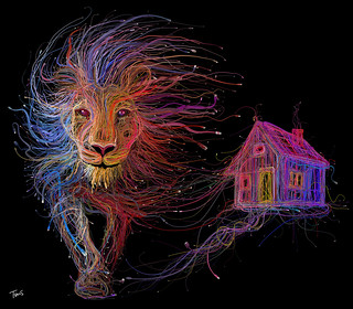 The Lion and the house (For the LYON EXPO 2015 - FOIRE DE LYON 2015) | by tsevis
