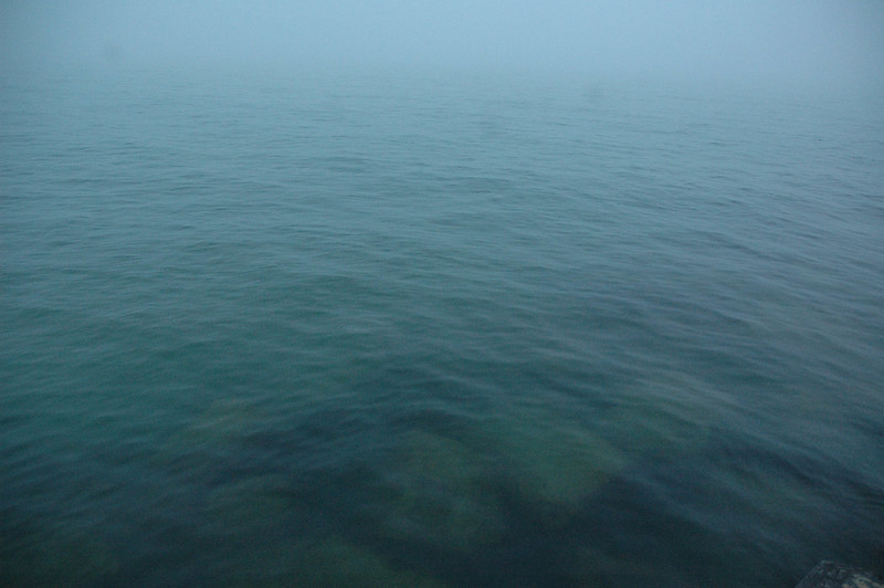 South Haven Pier and Lighthouse in the fog 2014