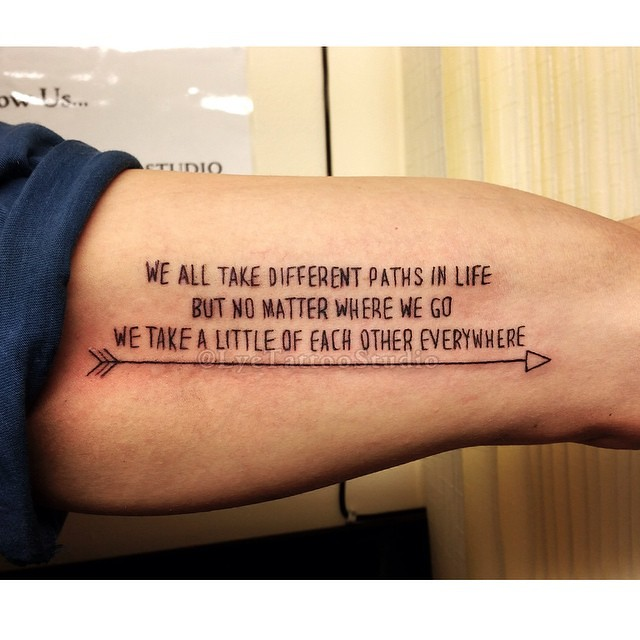 Really Nice Meaning Behind This One Tattoo Quote Writing