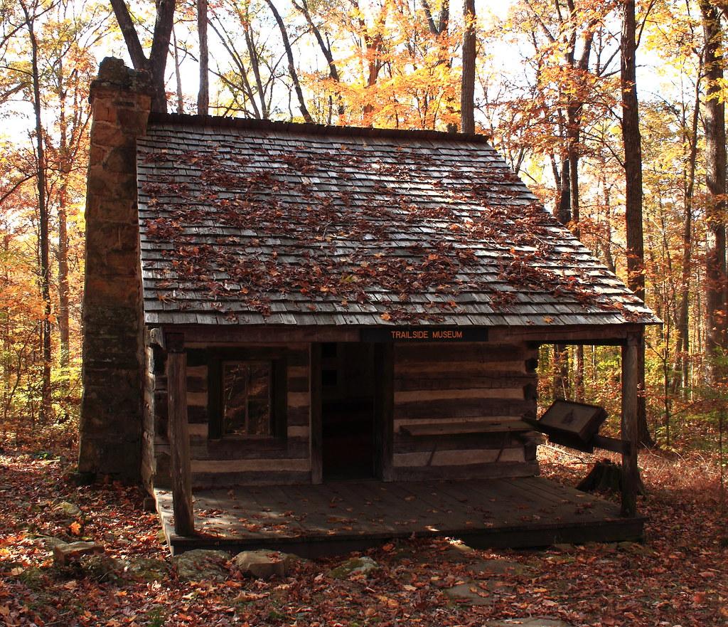 ... Dewar Log Cabin (1870), T.C. Steele State Historic Site   Brown County,