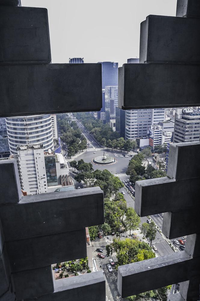 Вид на улицы Мехико с высоты