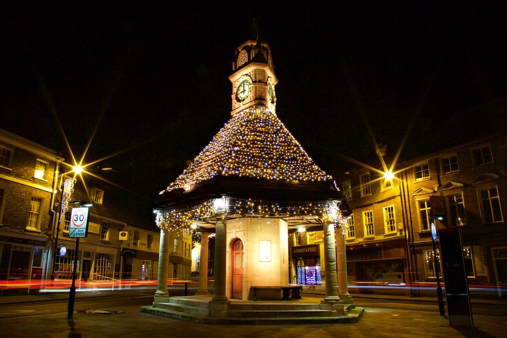 newbury clocktower christmas lights edward balch flickr
