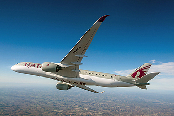 Qatar Airways A350-900 en vuelo (Qatar Airways)