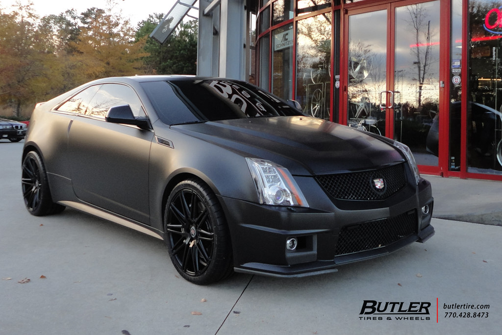 Matte Black Cadillac Cts V Coupe With 20in Xo Milan Wheels Flickr