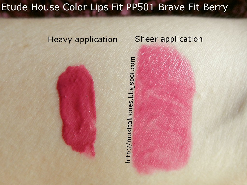 Etude House Color Lips Fit PP501 Brave Fit Berry Swatch | Flickr