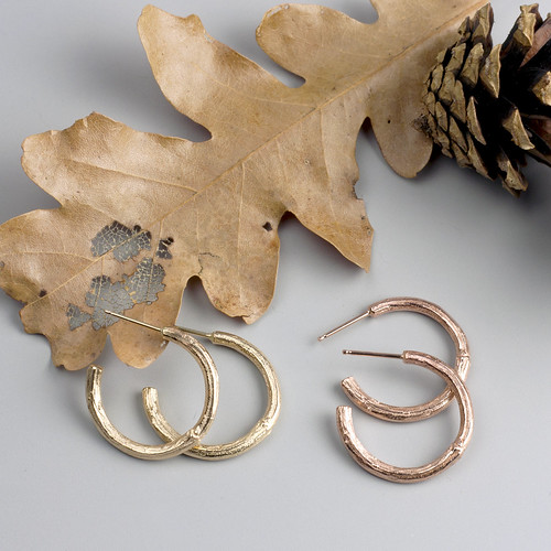 Gold Twig Hoops | by Sarah Hood Jewelry