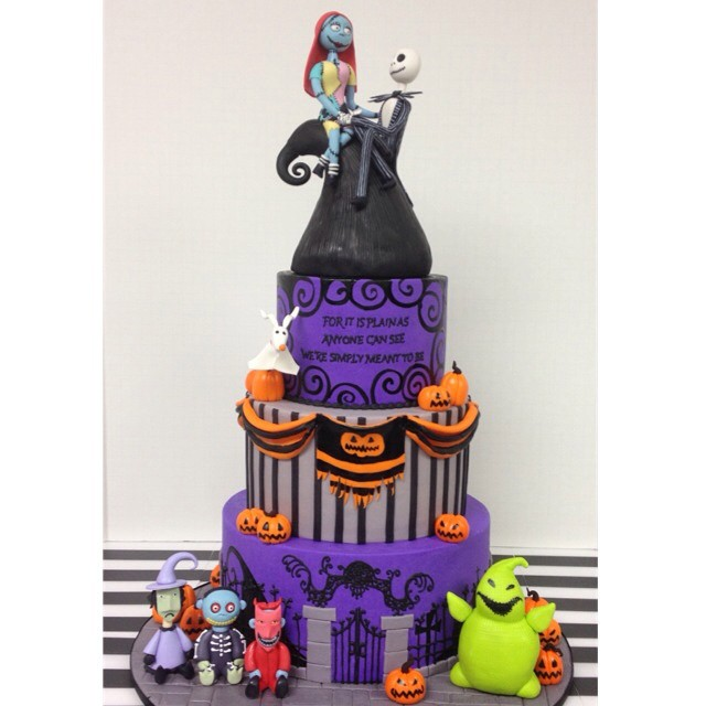 jackandsally oggieboogie lockshockandbarrel nightmare before christmas 18th birthday cake jackandsally oggieboogie lockshockandbarrel