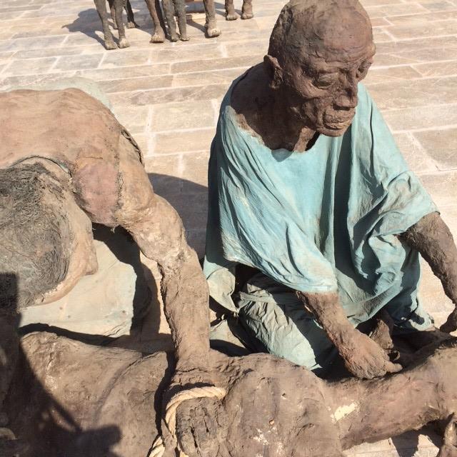 Exposition Ousmane Sow au Centre des conférences internationales de Dkar