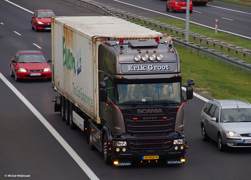 "Scania R580 V8 Streamline TL Silver Griffin ""Erik Groot"" (NL) 