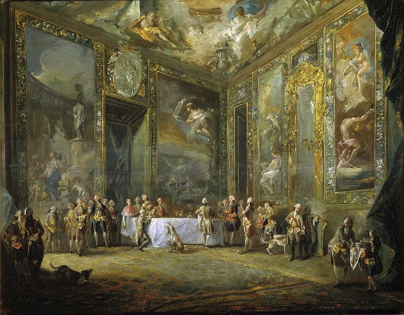 Luis Paret y Alcázar - Carlos III comiendo ante su corte (c.1775)