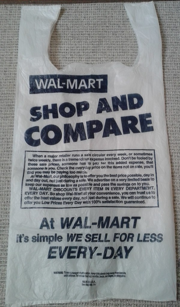 Late 1980 s Walmart  or should I say Wal Mart  Bag   by Albertsons. Late 1980 s Walmart  or should I say Wal Mart  Bag   Flickr