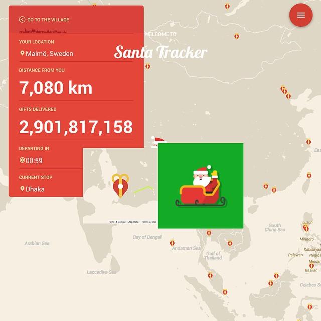 merry christmas google santatracker ui ux view