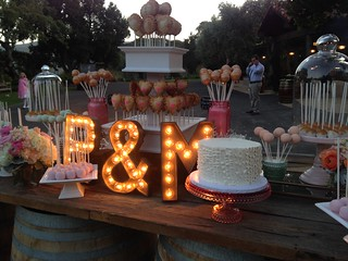 Close up of a wedding at Holman Ranch | by Sweet Lauren Cakes