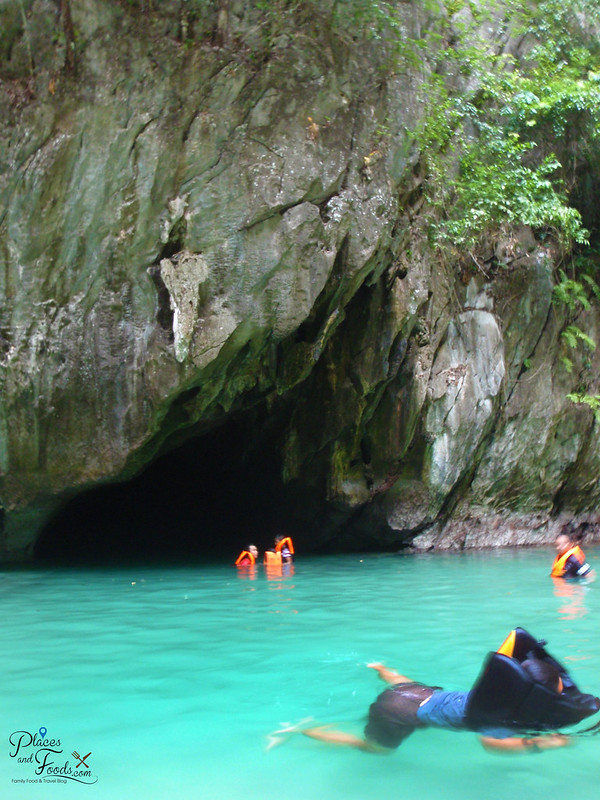 emerald cave trang swimming inside
