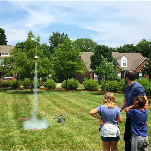 Launching model rockets with the kids today