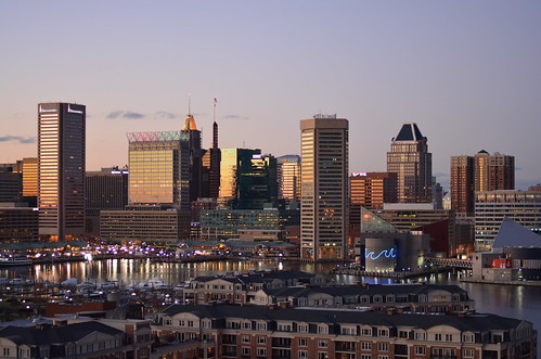 Baltimore City Right After Sunset | by Patrick Gillespie