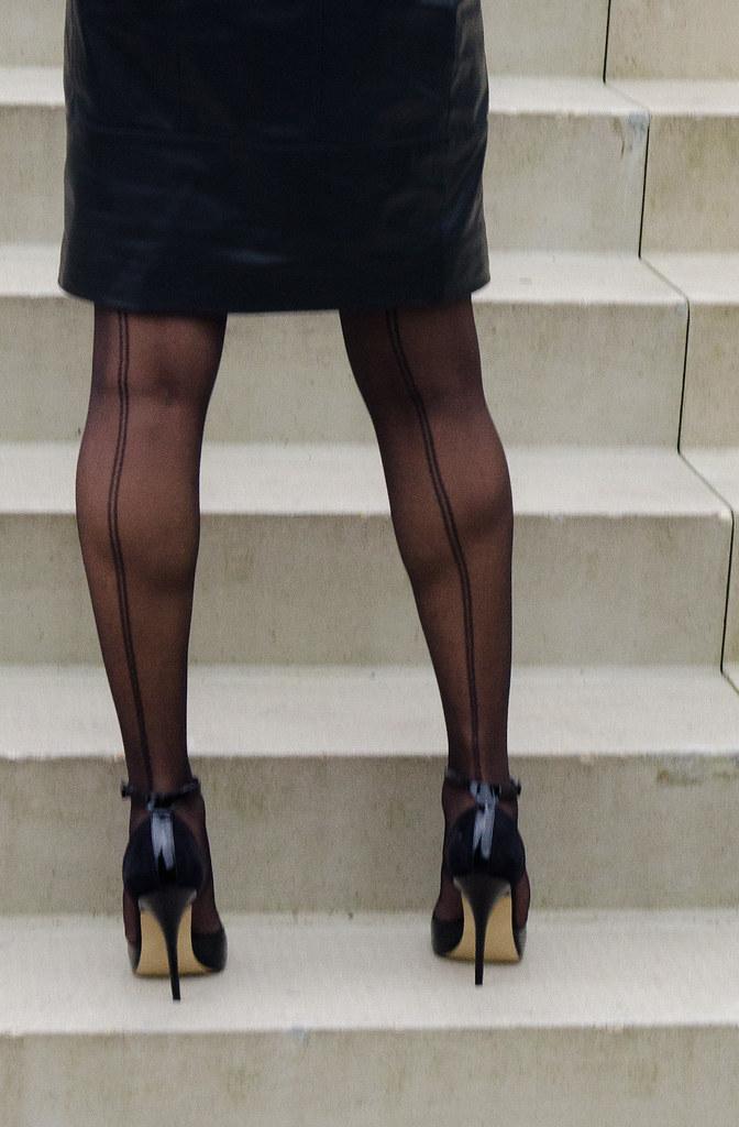 on stockings and heels Loving