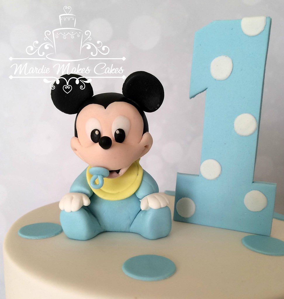Baby Mickey Mouse figurine. Fondant | Mardie Makes Cakes | Flickr