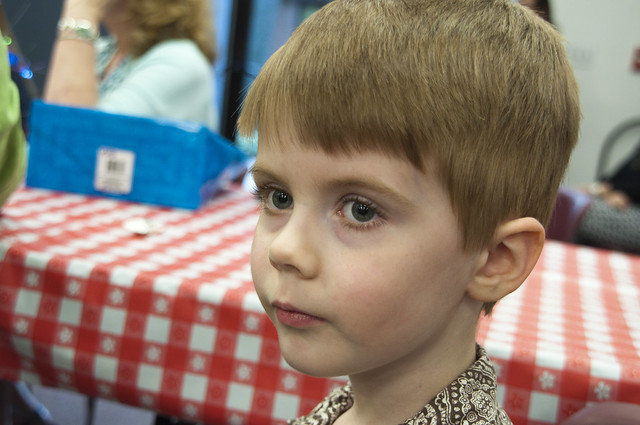 Connor Watching the Pre-K Graduation