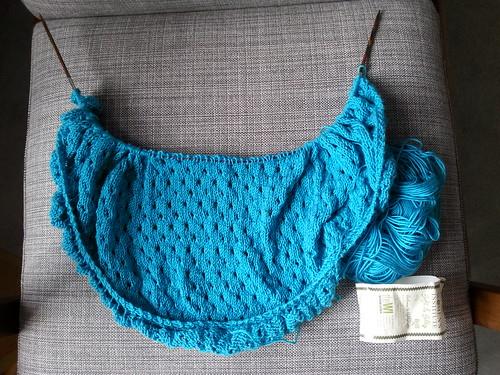 Pebble beach shawl progress