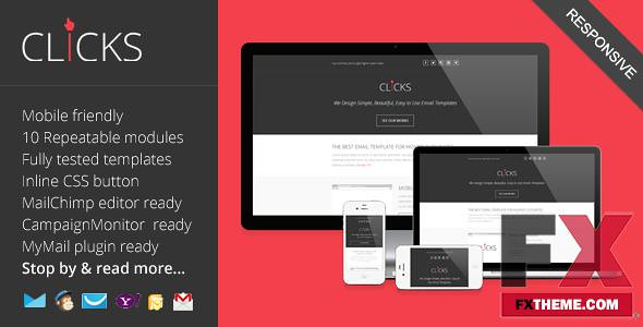 Preview Clicks Responsive Email Marketing Template Fxtheme… | Flickr