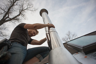 Tyler Installing Class A Chimney Pipe | by goingslowly