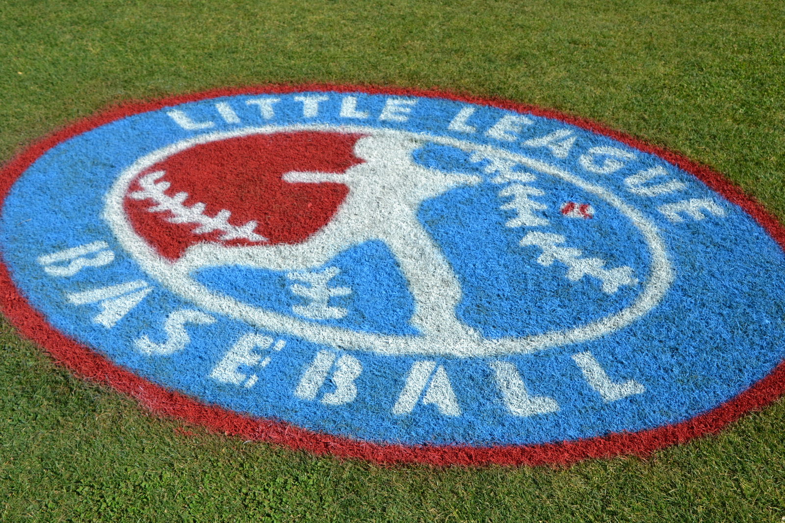 photo of Little Leage logo painted on field at Catawba Meadows Park